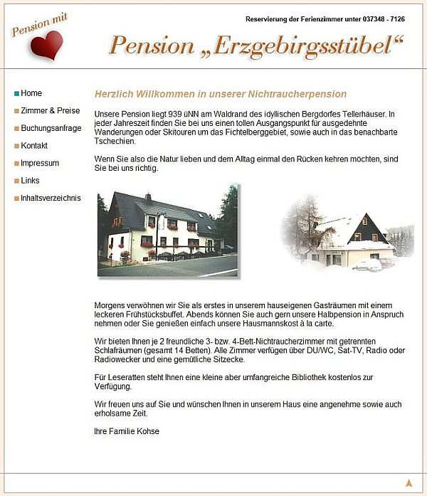 Pension Erzgebirgsstuebel