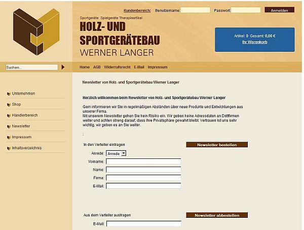 Sport Langer Newsletter