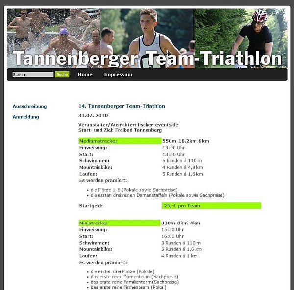 Tannenberger Team-Triathlon