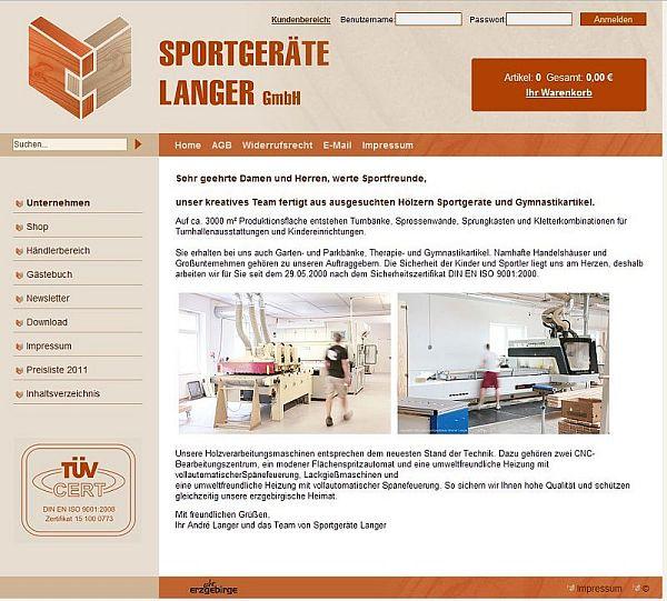 Sportgeräte Werner Langer wird Sportgeräte Langer GmbH