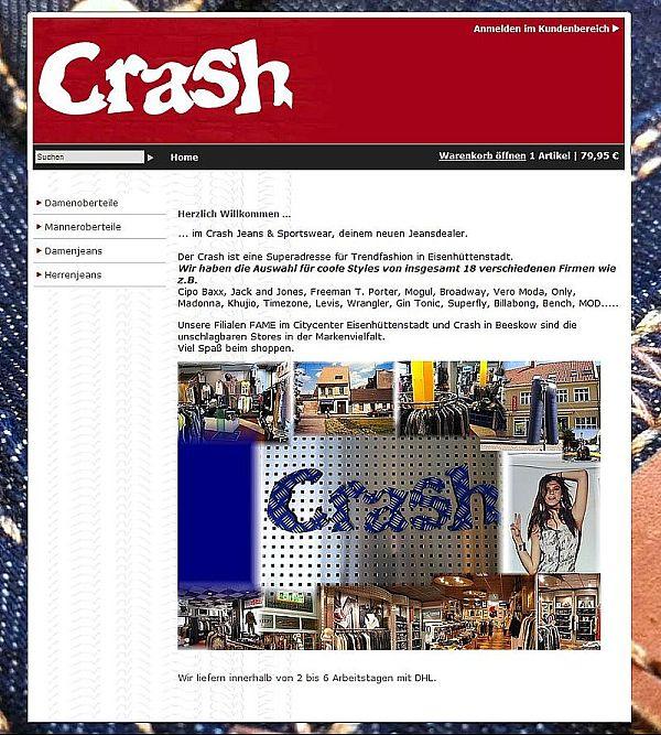 Startseite Crash im Web