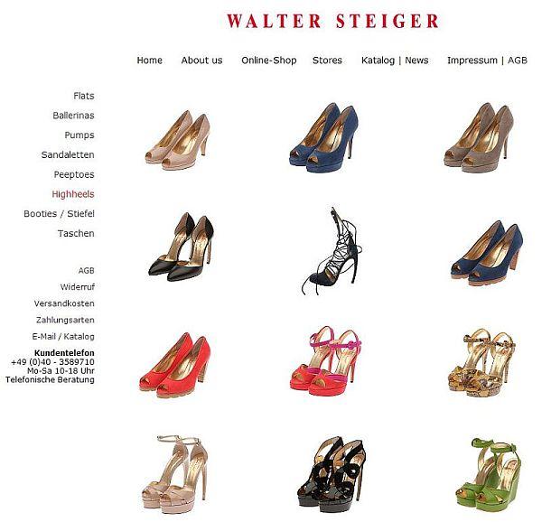 Shop Walter Steiger Düsseldorf Frau Laumen