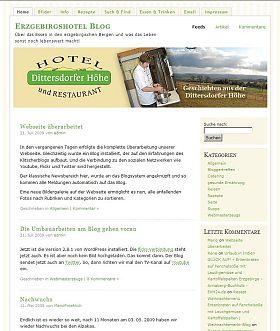 Hotel Dittersdorfer Höhe - Blog 2009