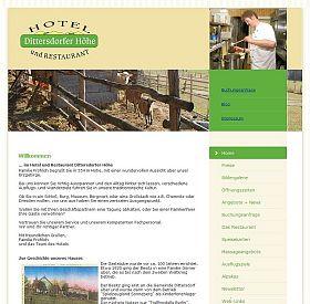Hotel Dittersdorfer Höhe - Webseite 2009