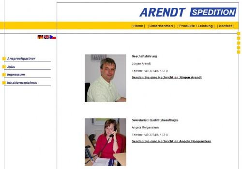 2008 Arendt-Spedition Ansprechpartnerdatenbank