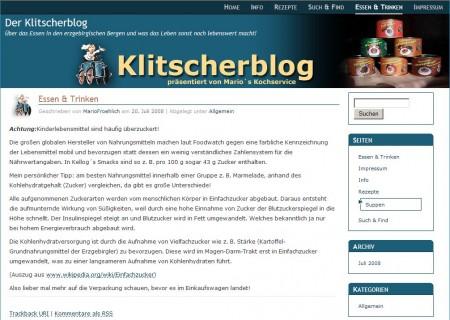 Klitscherblog startet in das Internet