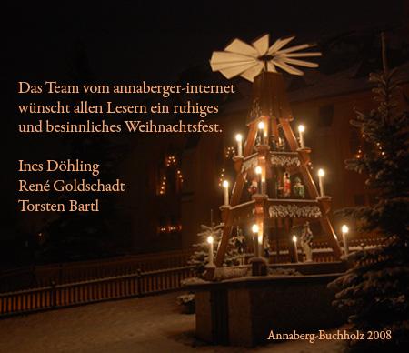Frohe Weihnachten 2008 wünscht das Team vom annaberger-internet