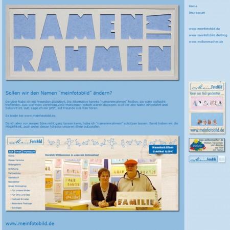 Namen in Rahmen oder Namen im Rahmen