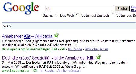 20090528 Suchergebnis für KÄT auf Google