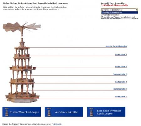 2013 Der Pyramidenkonfigurator fuer Weihnachtspyramiden Auswahl