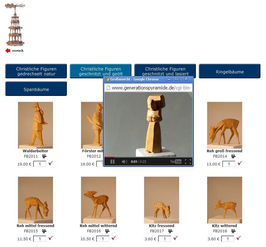 2013 Der Pyramidenkonfigurator fuer Weihnachtspyramiden Auswahl Figuren