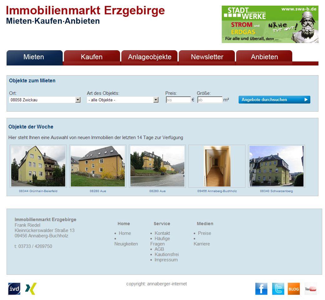 2013 Immobilienmarkt-Erzgebirge Startseite