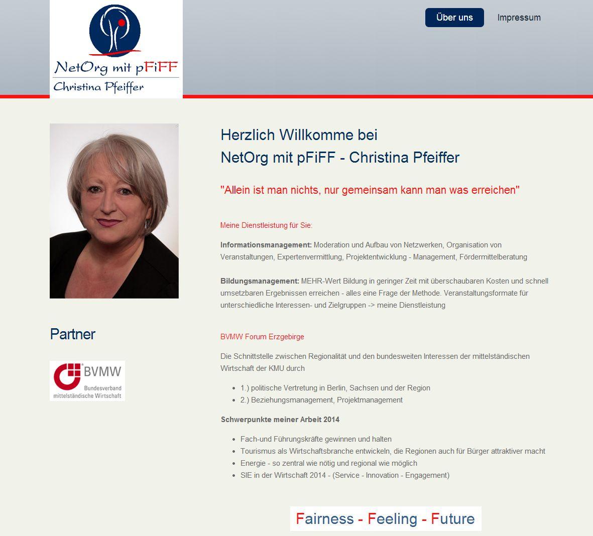 2014 Visitenkarte NetOrg mit pFiFF Christina Pfeiffer