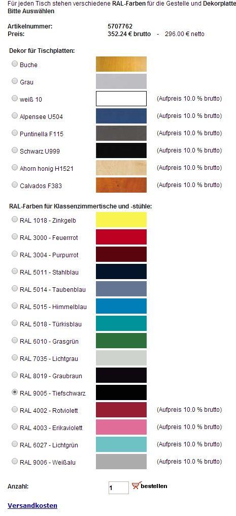 RAL Dekor Farben Modul im Shop vom annaberger-internet Erzgebirge 2014