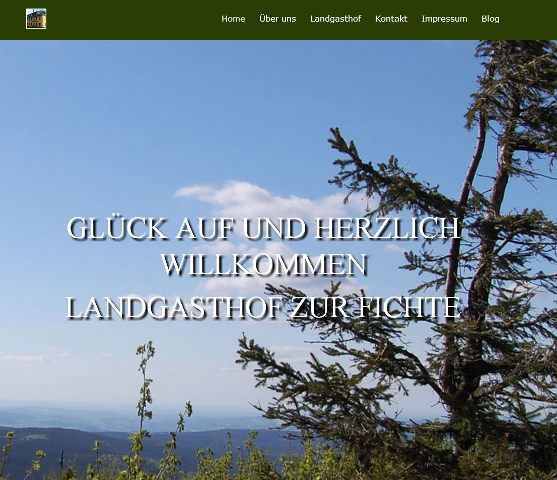 2014 Landungsseite Pension-Zur-Fichte Baerenstein Erzgebirge Landingpage
