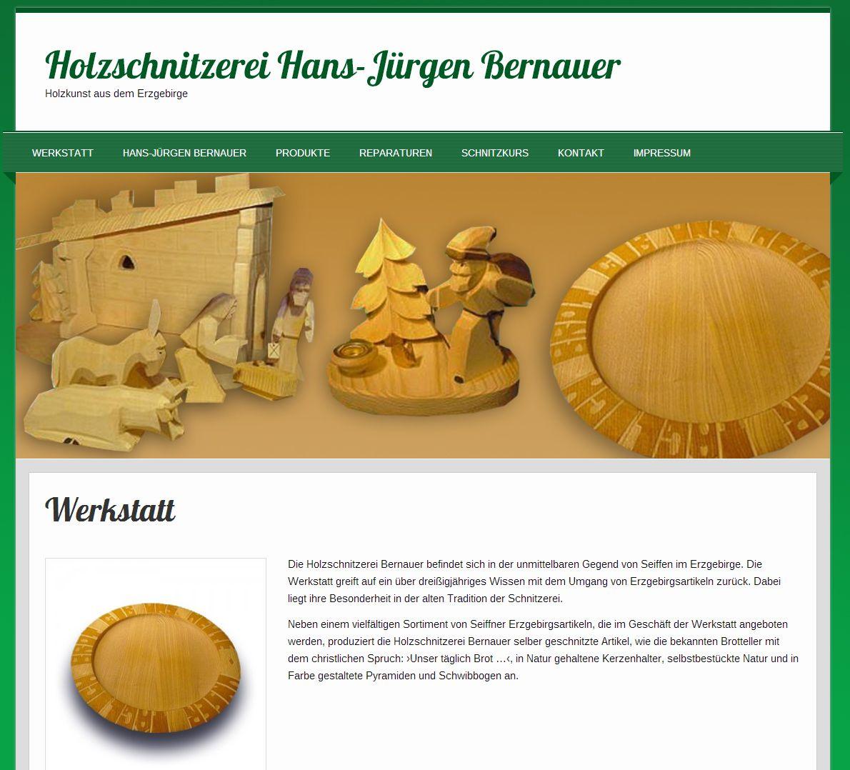 2014 Holzschnitzerei Hans-Juergen Bernauer Caemmerswalde Erzgebirge