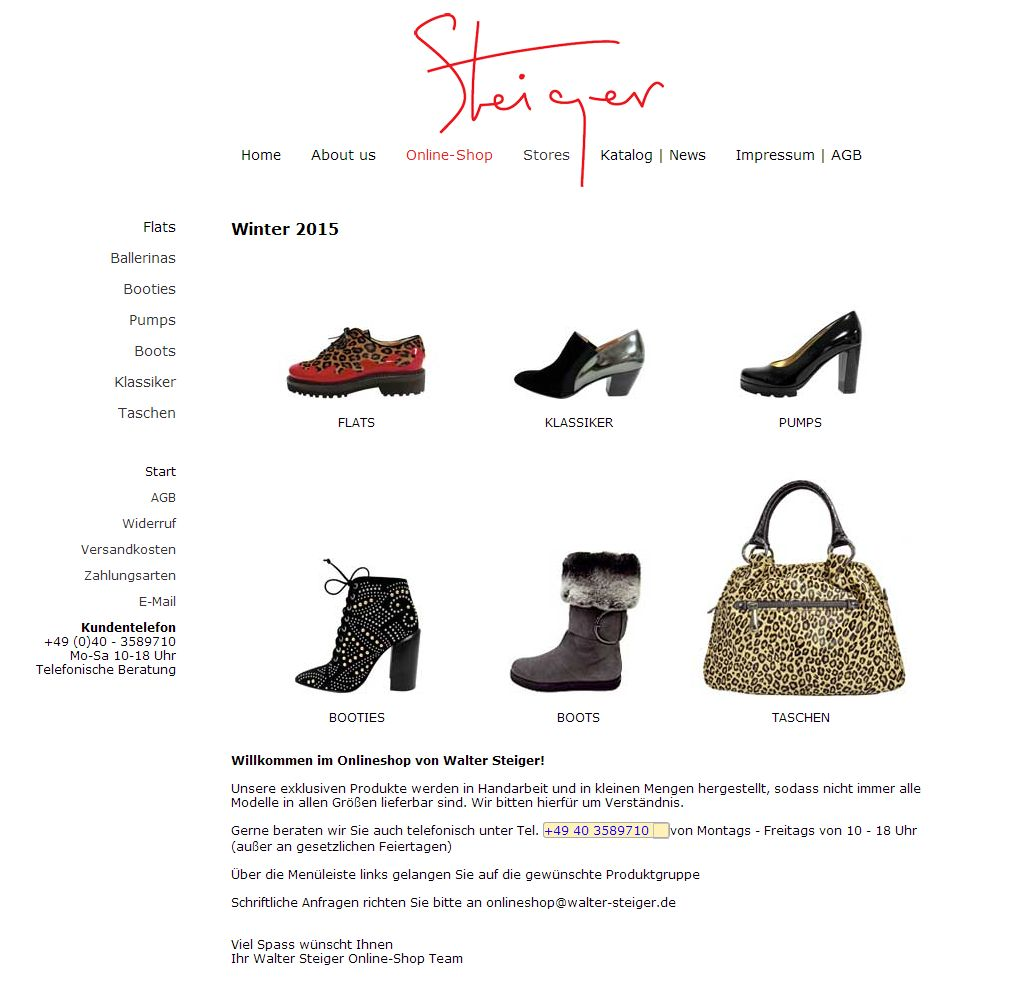 2014 Walter Steiger Shop Winter 2015