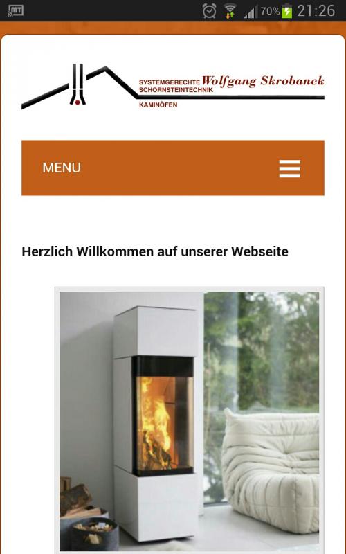 2014 responsives CMS auf WP Kamine Skrobanek Annaberg-Buchholz Erzgebirge