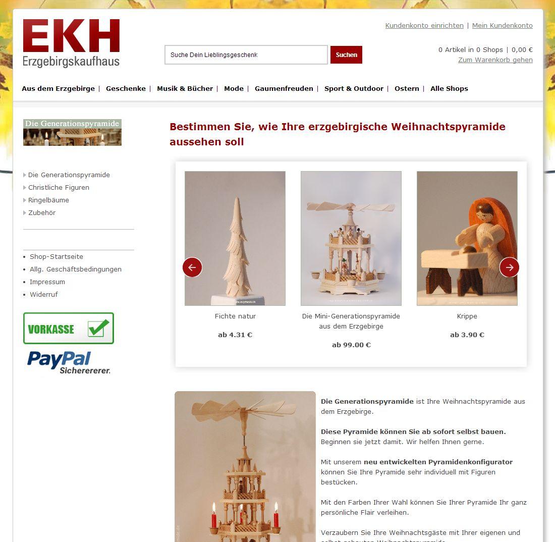 2014 Generationspyramide Webseite im Erzgebirgskaufhaus