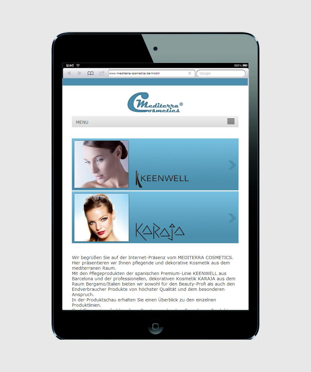 Mobile Version für ein iPad-mini Startseite