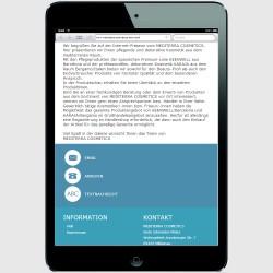 Mobile Version für ein iPad-mini Startseite Footer