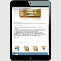 Mobile Version für ein iPad-mini Einzelproduktinfo
