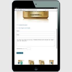 Mobile Version für ein iPad-mini Einzelproduktanfrage