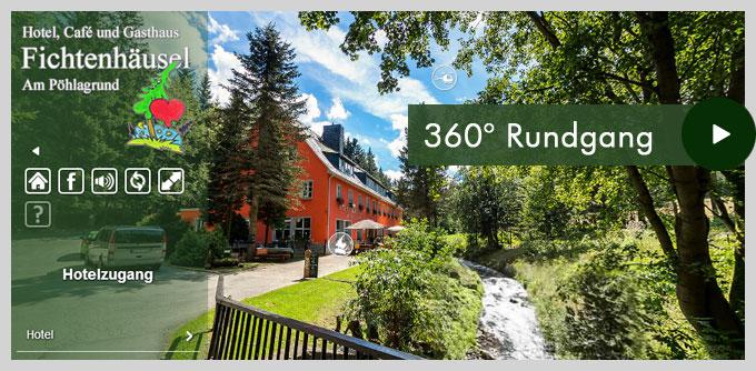 2014 360° Rundgang Hotel Fichtenhaeusel am Poehlagrund im Erzgebirge