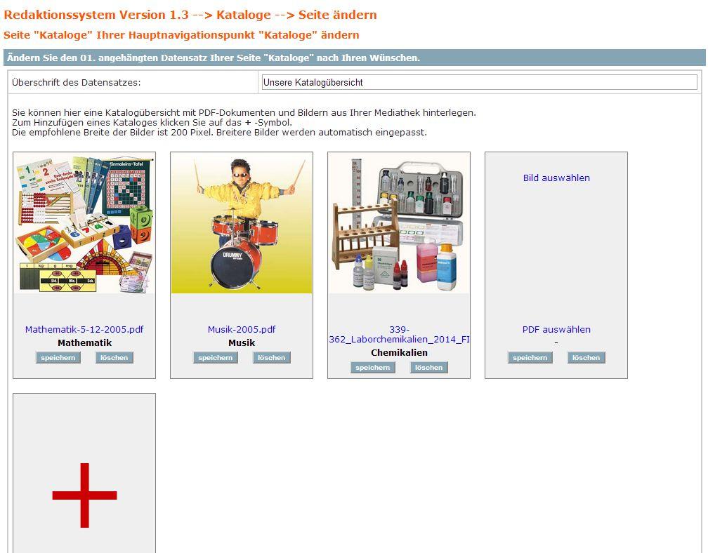 2015 Datensatz CMS PDF-Kataloge bei annaberger-internet