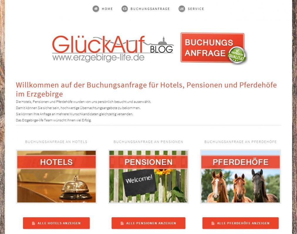 2015 Erzgebirge-life Buchungsanfragen Hotel Pensionen Pferdehoefe