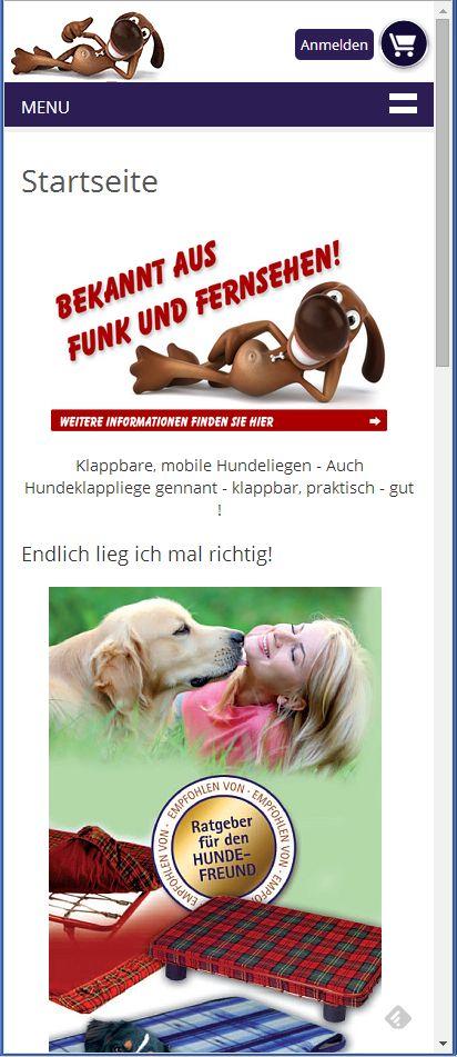 2015 Hundeklappliege responsiv Smartphone