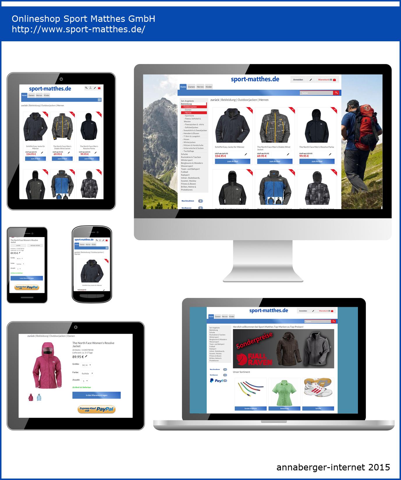 Mobiles Webprojekt www.sport-matthes.de