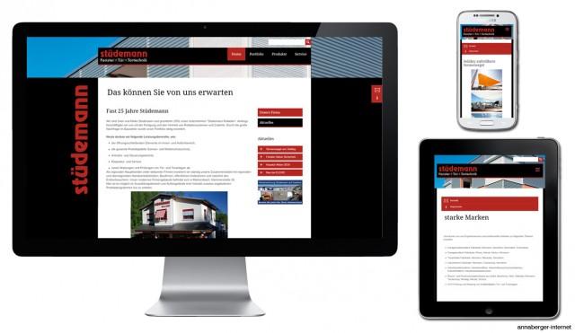Mobile Webseite der Firma Stüdemann aus Markersbach im Erzgebirge