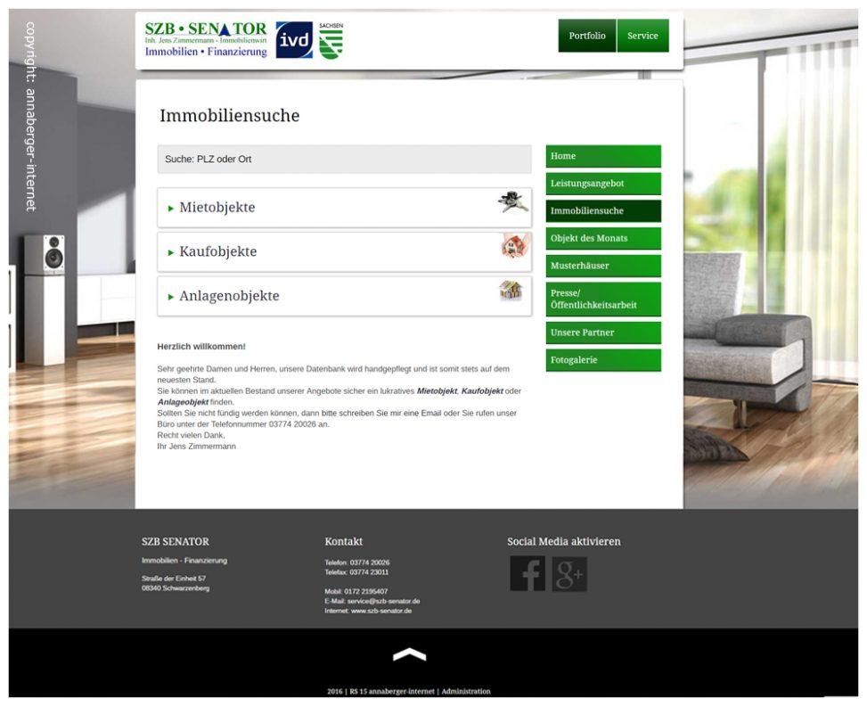 CMS / Immobiliendatenbank mit Anbindung an Immobilienportale